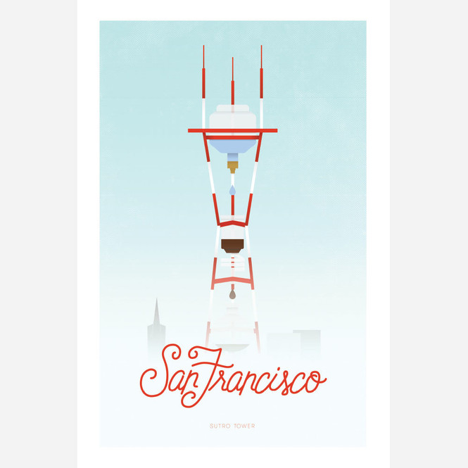 San Francisco Coffee City Poster