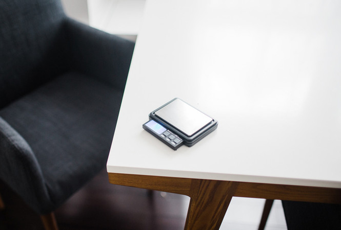 Pro Scale XC2000 Coffee Scale on a table