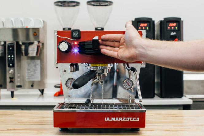 Luminaire Shot Timer and Home Espresso Machine