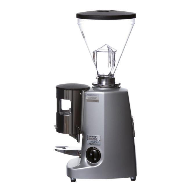 Mazzer Super Jolly Silver Espresso Flat Burr Grinder Left
