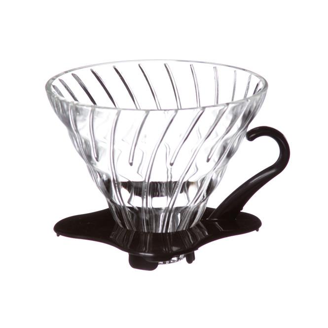 Glass V60 02 with black base