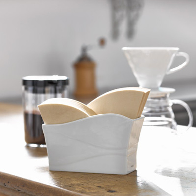 Hario White Ceramic V60 Filter in a Shop