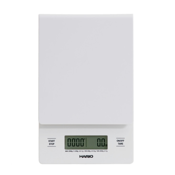 Hario Drip Scale in white, front view