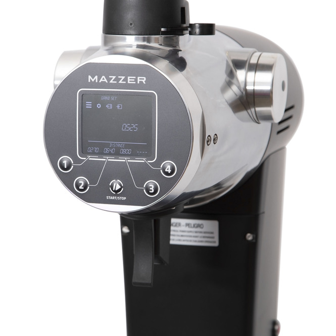 Mazzer ZM grinder angled view