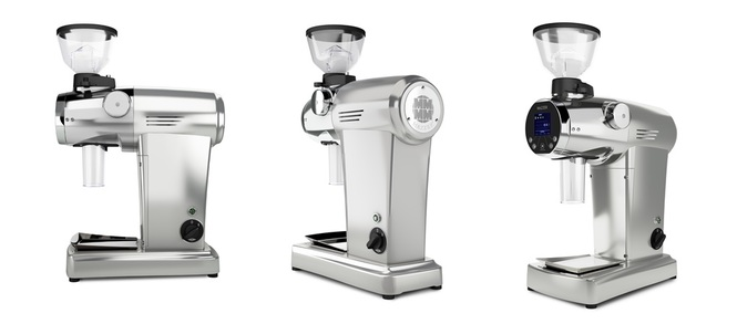 Mazzer ZM Grinder Silver in Multiple Angles