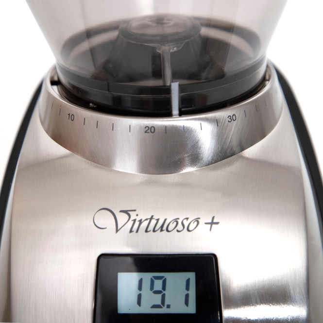 Baratza Virtuoso+ Conical Burr Coffee Grinder Front Dial