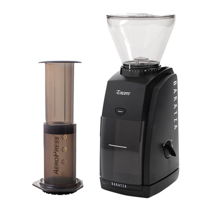 Baratza Encore Coffee Grinder and Aeropress Coffee Maker