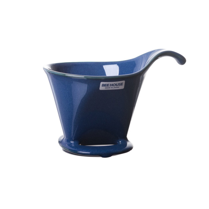 Bee House Ceramic Coffee Dripper - Large Blue
