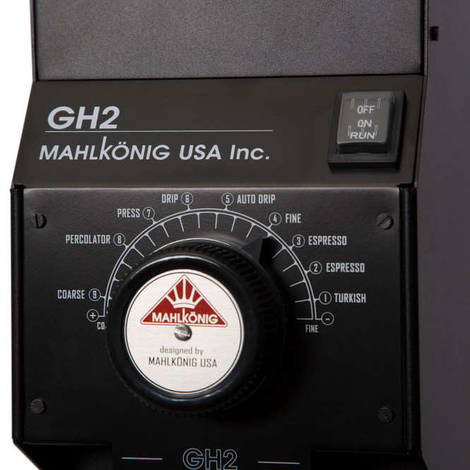 Mahlkonig GH2 Retail Coffee Grinder Controls Close Up