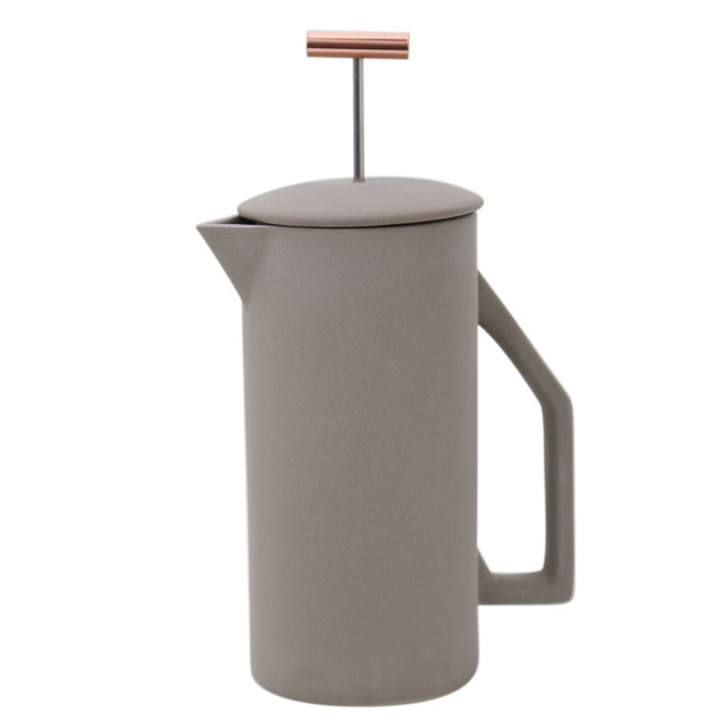 Yield Grey Ceramic French Press