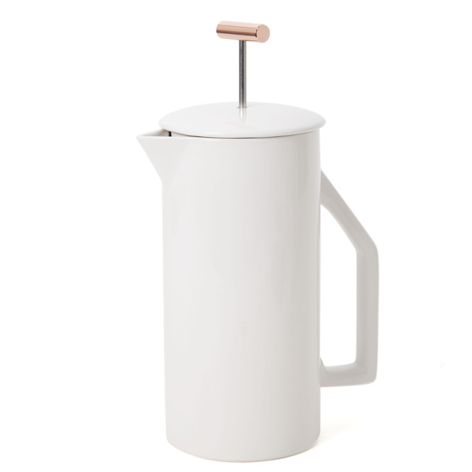 Yield Matte Cream Ceramic French Press