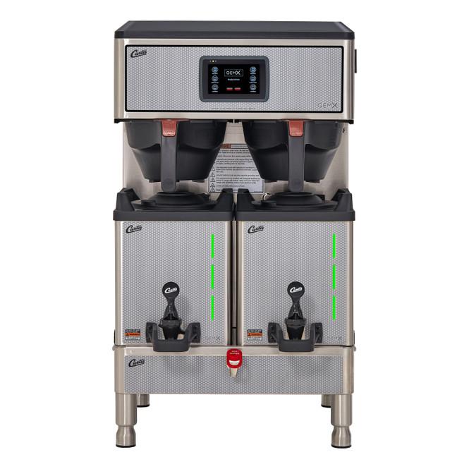 Curtis G4 GemX Gemini IntelliFresh Twin 1.5 Gallon Coffee Brewer with FreshTrac Satellite