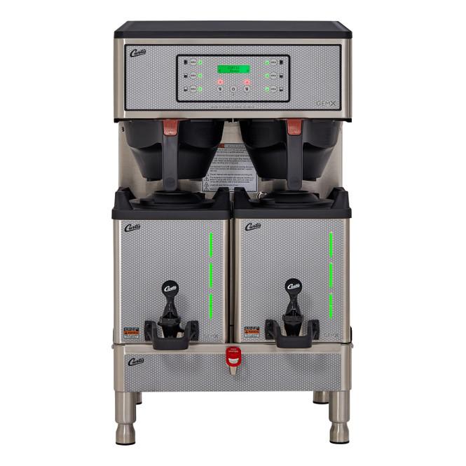 Curtis G3 GemX Gemini IntelliFresh Twin 1.5 Gallon Coffee Brewer with FreshTrac Satellites