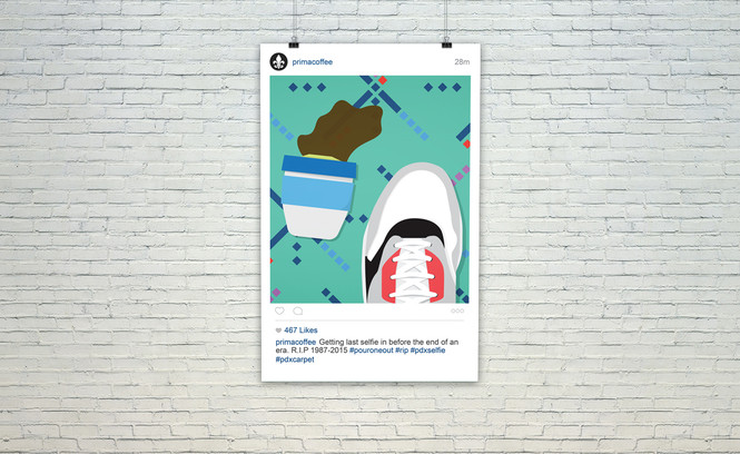 PDX Instagram Coffee Cities Poster