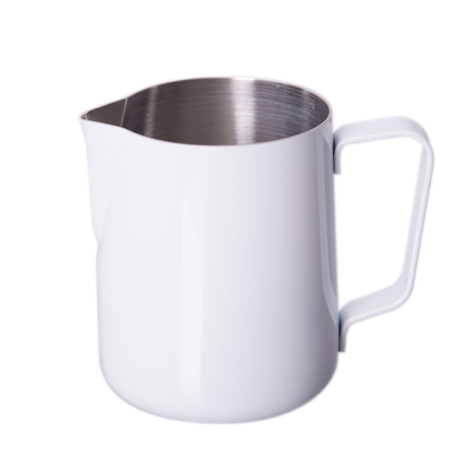 JoeFrex Teflon Steaming Pitcher 12oz White