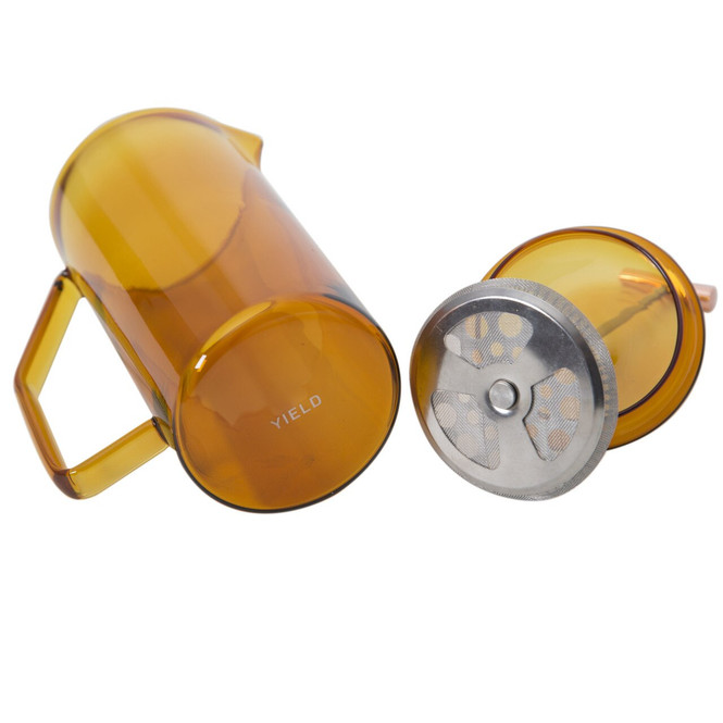 Yield Glass Amber French Press and Plunger