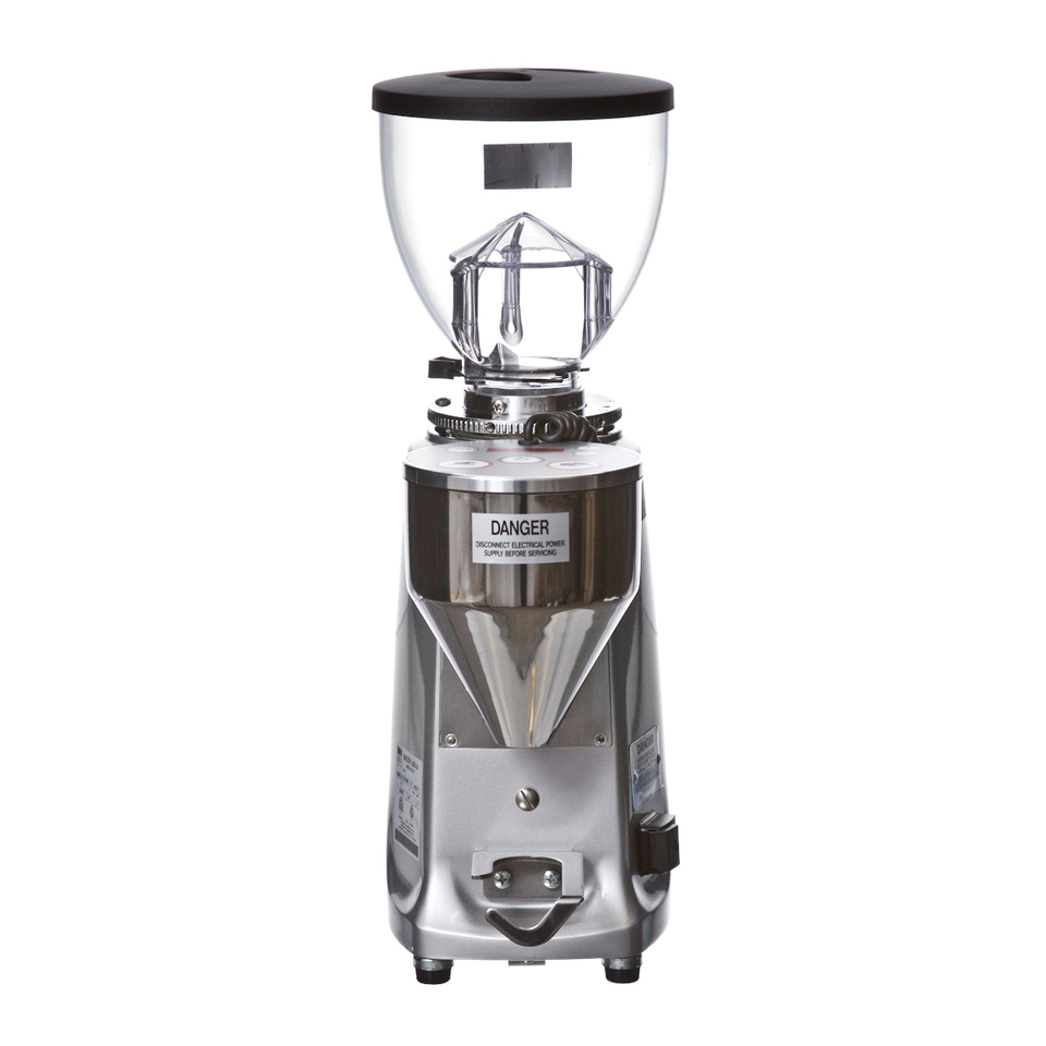 Mazzer Mini A front view with white background