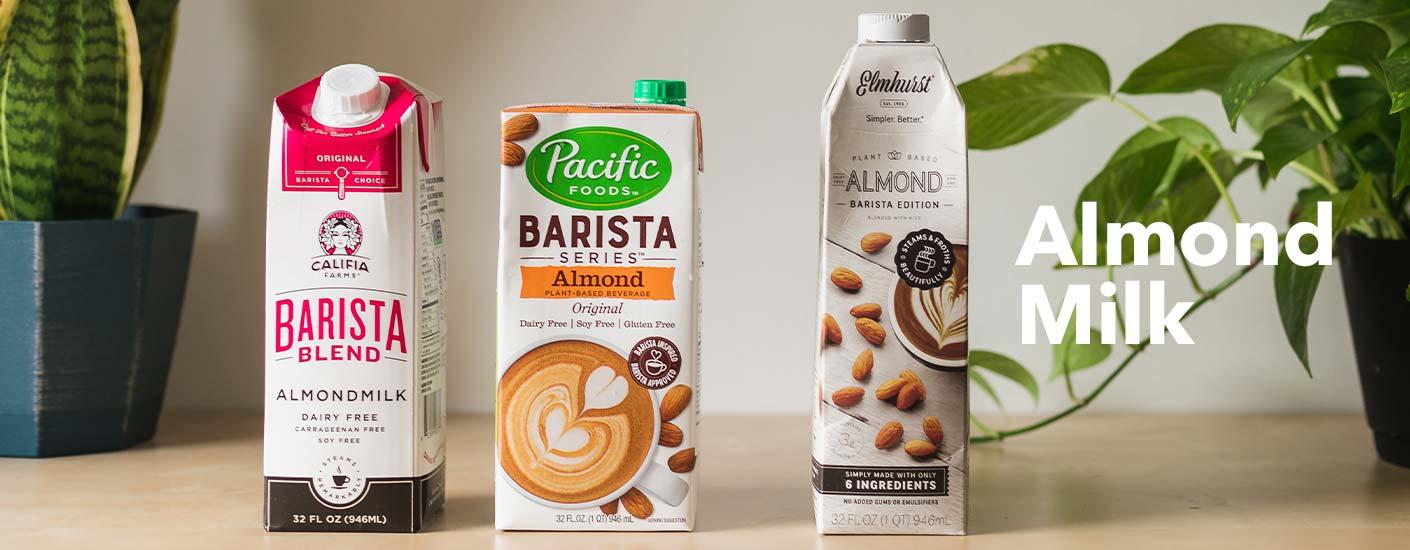 almond milk section header