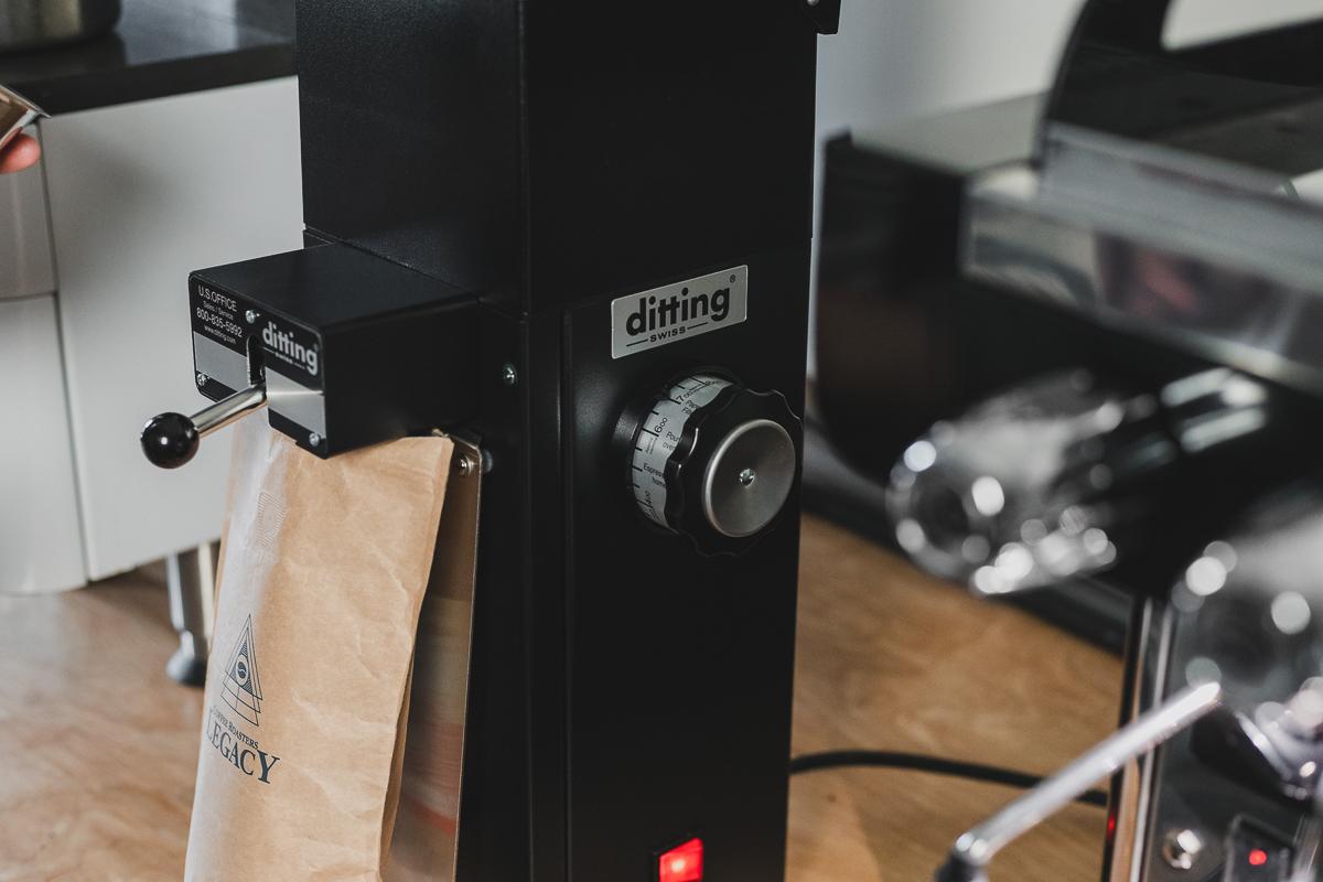 Close up on Ditting KR804 grinder