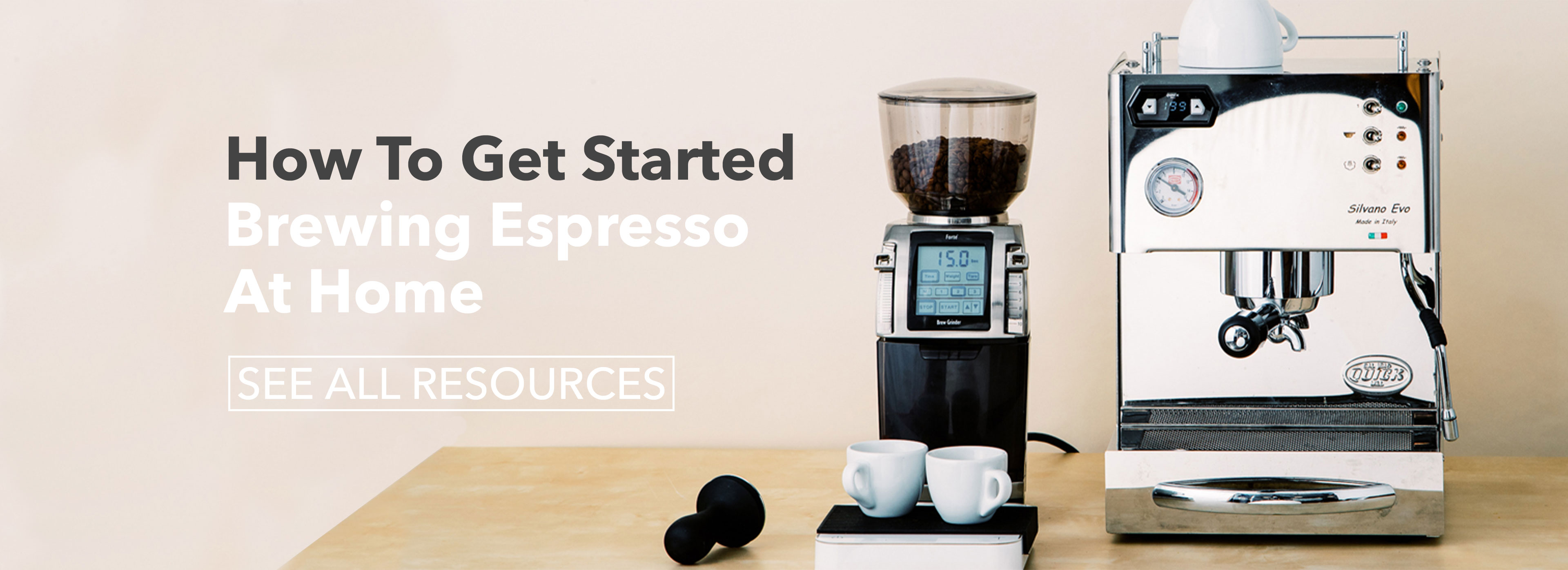 how to get started brewing espresso at home