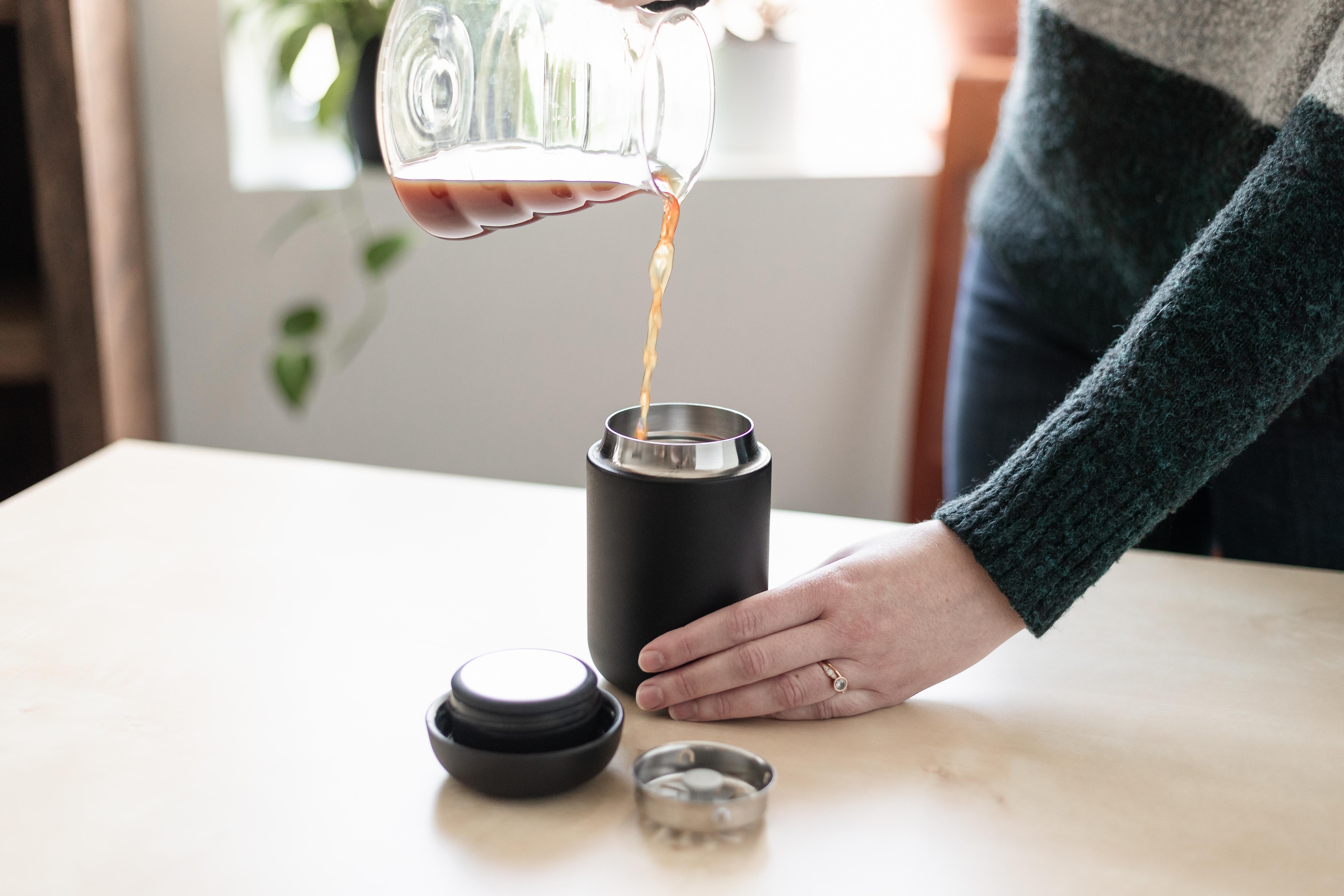 Pouring coffee into Carter Move Mug
