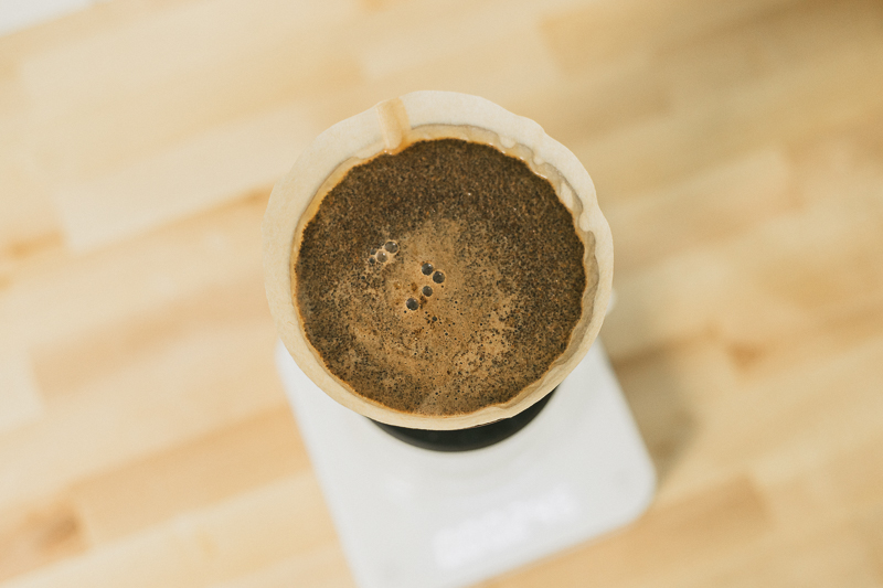 coffee brewing in Hario Switch