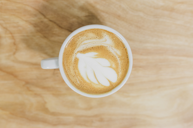 Birds eye view of cappuccino