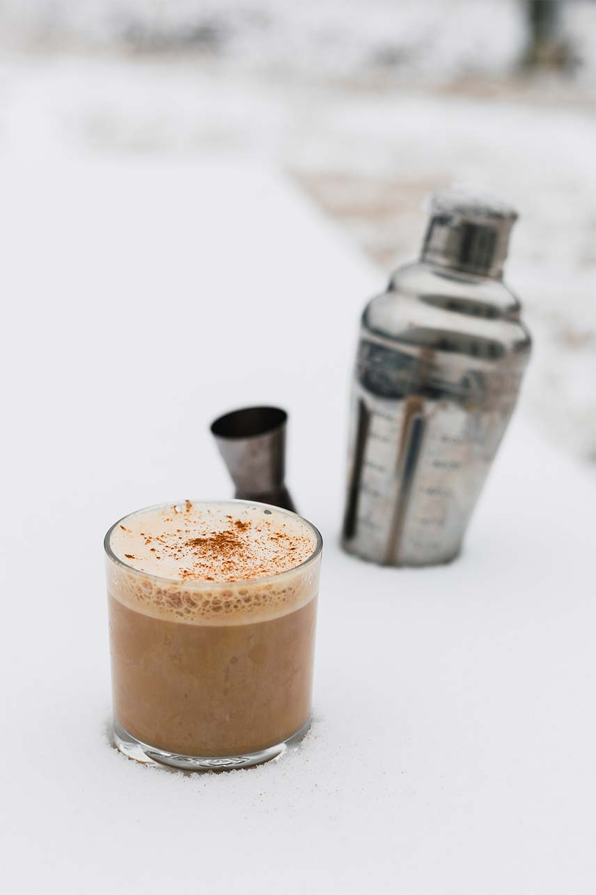 spiced rum milk punch coffee cocktail