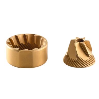Gold tin-coated burr set