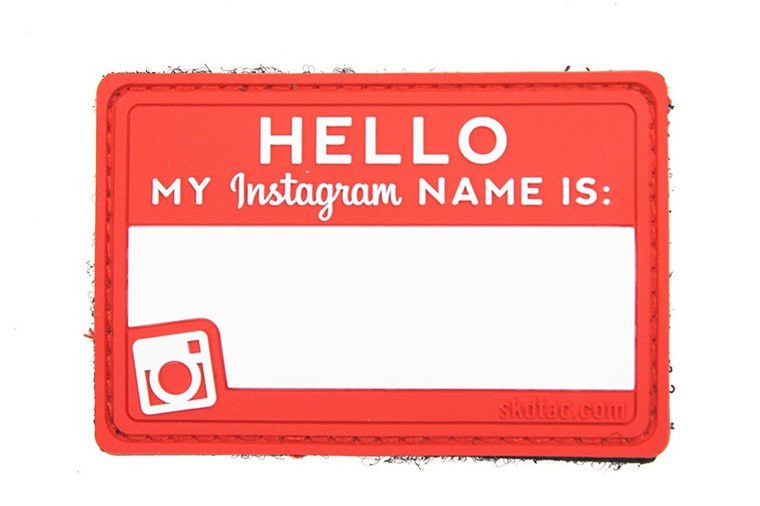 SKD Hello My IG Name Is Patch