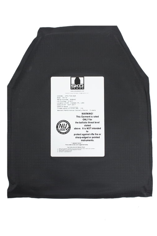 "SKD Armor Soft Armor Plate Backer (IIIA), 10"" x 12"", (Sold Individually)"