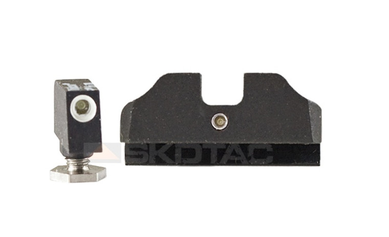 "Warren Tactical Sight, Tritium 2 Dot Set For Glock (0.215"")"