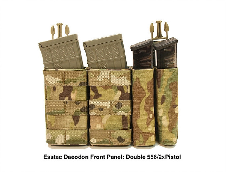 Esstac Daeodon Front Panel Pouch: Double 556 + 2