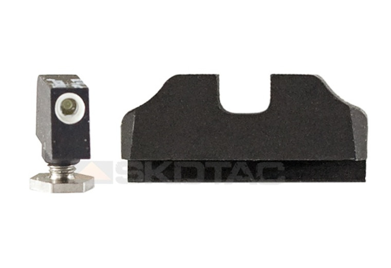 "Warren Tactical Sight, Tritium Front / Plain Rear Mix For Glock (0.215"")"