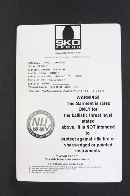 SKD Armor Soft Armor Cummerbund Inserts (IIIA), (1 Pair)