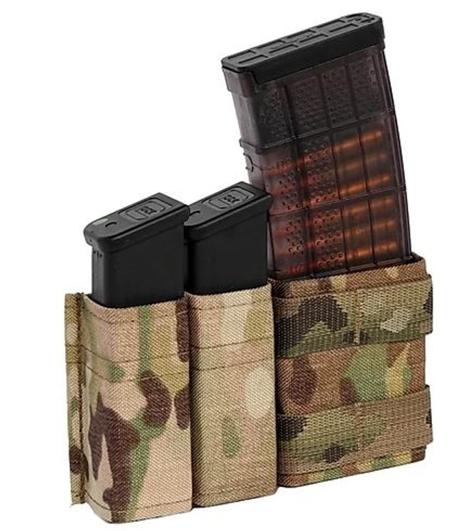 Esstac 5.56 1+2 Side BY Side KYWI Pouch - SHORTY (w/ front PALS webbing)