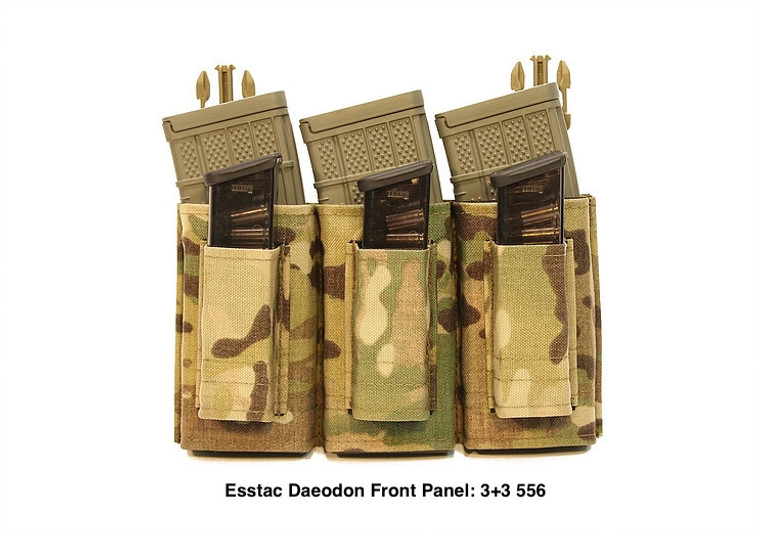 Esstac  Daeodon Front Panel Pouch: 3+3 556