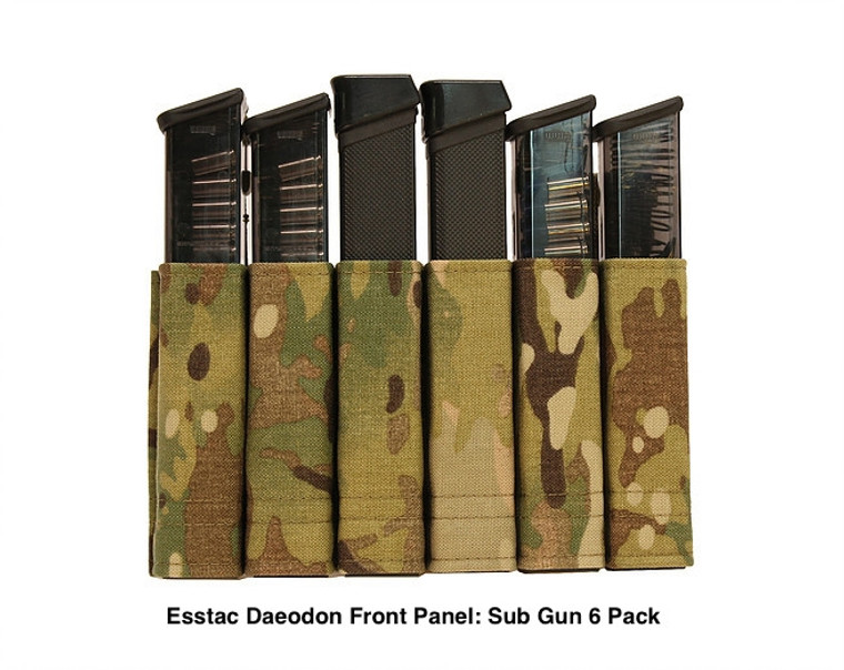 Esstac Daeodon Front Panel Pouch: Sub Gun Six Pack