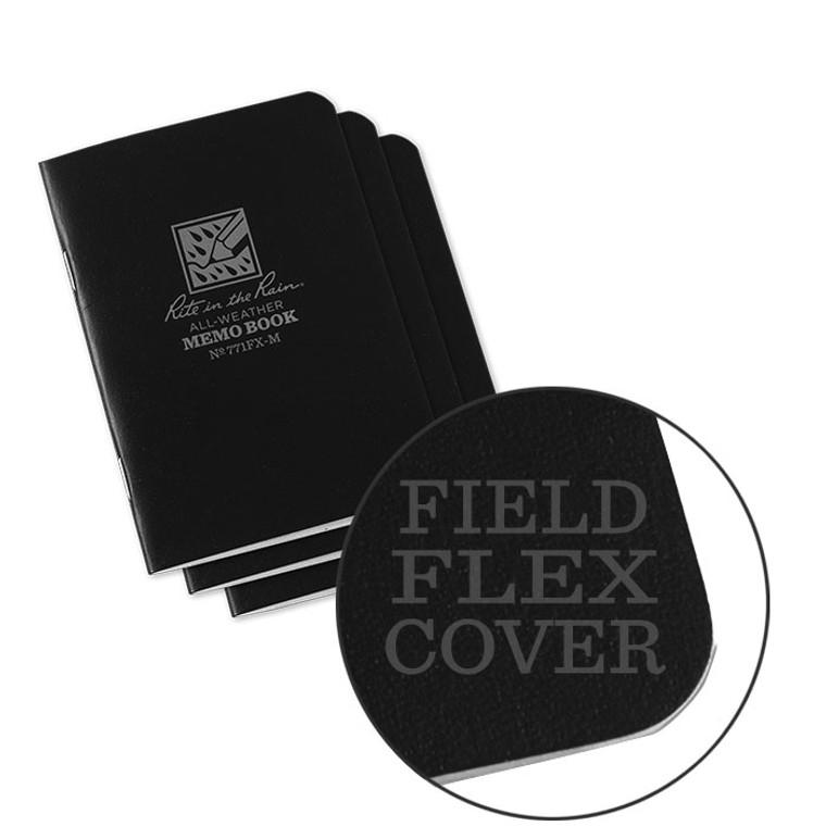 Rite in the Rain Stapled Mini Notebook - Universal  - 3 Pack