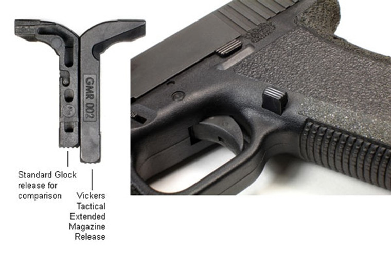 Vickers Tactical 45 Extended Magazine Release by TangoDown -  For Glock
