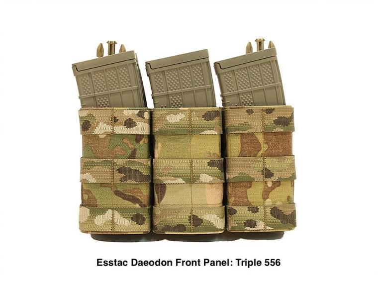 Esstac Daeodon Front Panel Pouch: Triple 556
