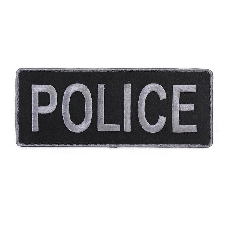 """Police Patch (9"""" x 3.5""""), Hook Back"""