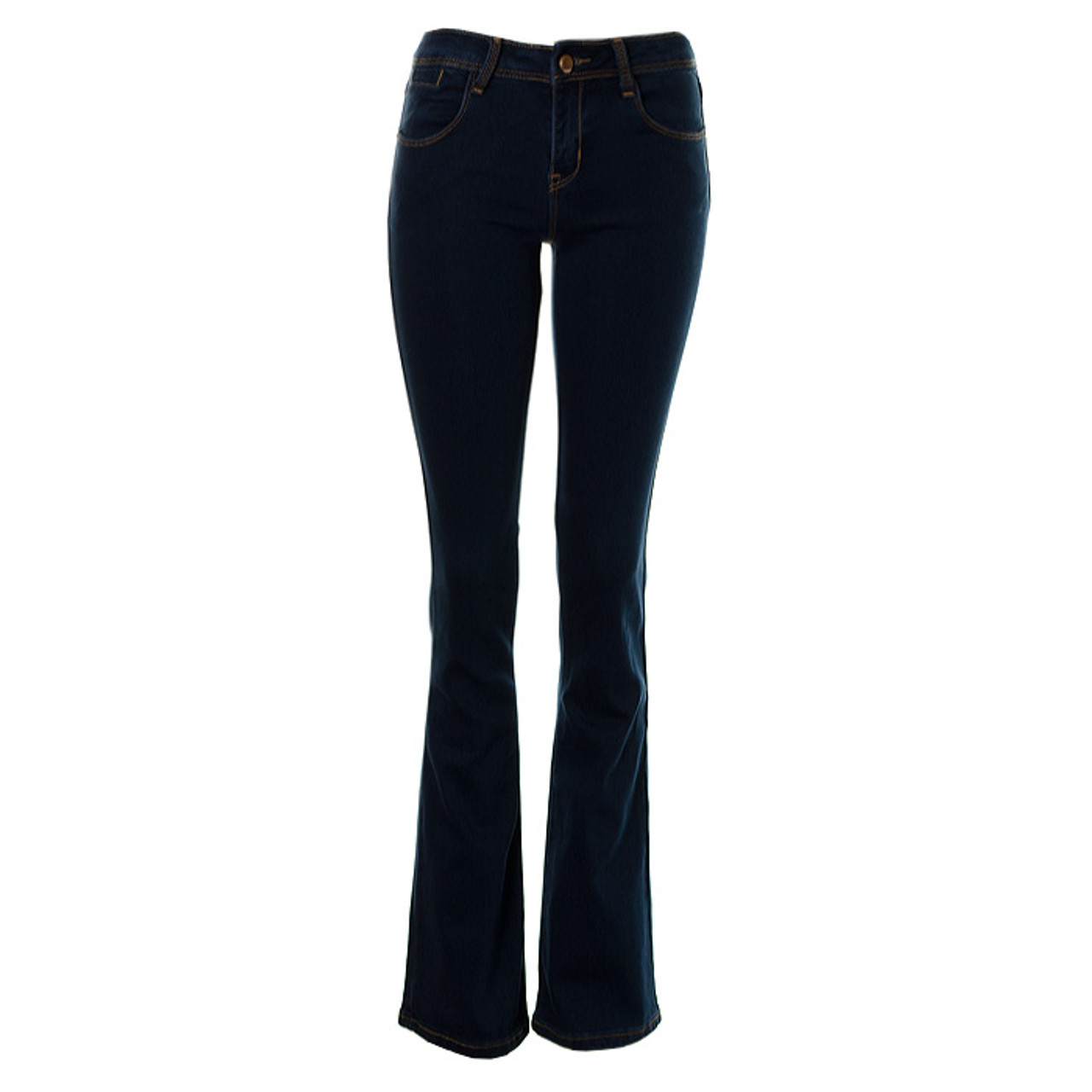 how to orders convenience goods on sale online Women's Kick Flare Bell Bottom Boot Cut Ladies Jeans Flared Wide Leg Mid  Blue Denim