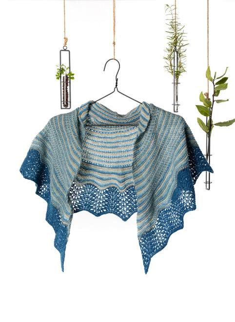 Tara Scalloped Edge Shawl Classic Knit Kit