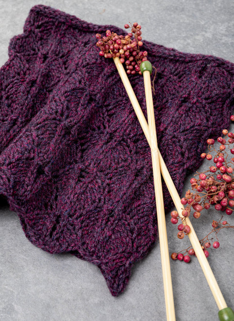 Aileen Lace Leaf Cowl Yarn Vibes Classic Knit Kit