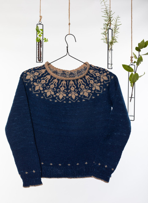 Anna Colorwork Sweater Yarn Vibes Classic Knit Kit
