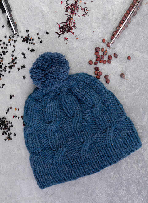 Riley Aran Hat Yarn Vibes Classic Knit Kit
