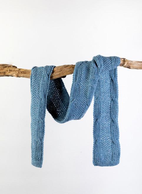 Liam Aran Scarf Yarn Vibes Classic Knit Kit