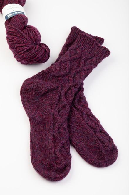Quinn Aran Socks Knitting Pattern