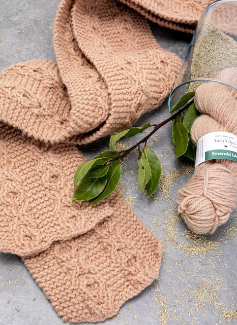 Connor Celtic Scarf Yarn Vibes 100% Organic Knit Kit